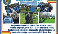 Duminică, la Târgovişte – Jandarmii vă invită la exerciţii demonstrative antitero