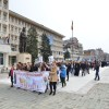 Sute de tineri s-au alăturat Marșului pentru viață, la Târgoviște