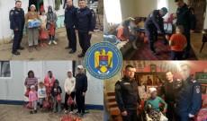 Șase familii sărmane au primit cadouri de la pompierii târgovișteni