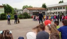 Copiii de la Grădiniţa 13 Târgovişte s-au împrietenit cu Raz, câinele jandarmilor dâmboviţeni