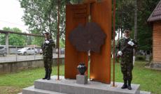 Monumentului Tuturor Eroilor Români, inaugurat la Cazarma Teiș