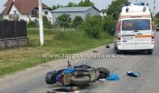 ACUM – Accident la Teiş. Un scuterist a intrat într-o căruţă