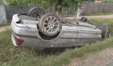 Un BMW scăpat de sub control s-a răsturnat la Ghergani, lângă Răcari. Ce au văzut martorii