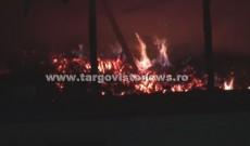 """Noapte de foc la Cobia. Un individ a incendiat casa părintească şi a ameninţat mai multe persoane. """"Vă omor pe toţi!"""""""
