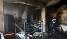 Incendiu la cantina de ajutor social din Târgovişte! Video
