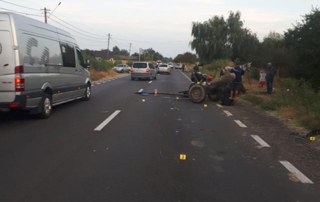 Tragedie la Gura Foii. Un căruțaș a murit după impactul cu mașina unui polițist