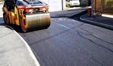 Târgovişte – Primul strat de asfalt pe strada Nifon