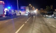 Accident la intrarea într-o benzinărie din Târgovişte. Patru oameni au fost răniţi