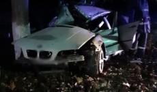 Accident cumplit, noaptea trecută, pe DN 7. Un BMW s-a transformat într-un morman de fiare