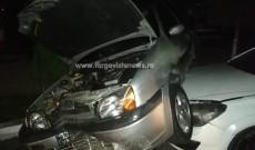 Accident spectaculos la Fieni. Un şofer a avariat patru maşini