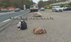 Accident grav vizavi de hanul de la Dragodana. Un ospătar a fost spulberat de o camionetă