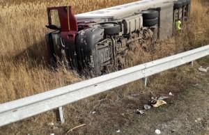 Accident urmat de jaf, pe Autostrada A1, la kilometrul 73
