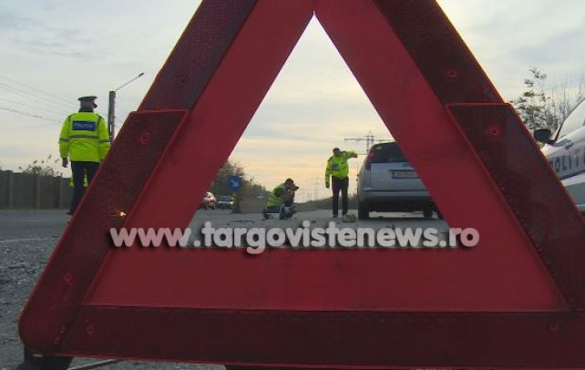 Accident pe DN 7, la Mătăsaru. Un şofer, de 19 ani, a fost rănit