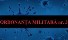 A intrat în vigoare Ordonanţa militară nr 3 – Este INTERZISĂ circulaţia tuturor persoanelor. Precizări