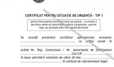 Metodologia de solicitare și eliberare a Certificatelor de Situație de Urgență a fost publicată în Monitorul Oficial