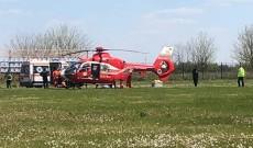 ACUM – Accident pe DN 71, la Conţeşti. Un şofer a intrat într-un copac