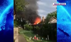 Incendiu urmat de explozie, la Crevedia