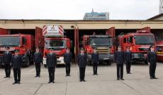 """10 elevi pompieri aflați în stagiu la ISU """"Basarab I"""" Dâmbovița au depus jurămantul militar"""