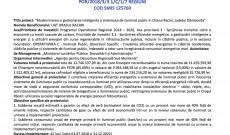 """Anunț de începere implementare proiect """"Modernizarea si gestionarea inteligenta a sistemului de iluminat public  în Orasul Racari, județul Dâmbovița""""   POR/2018/3/3.1/C/1/7 REGIUNI COD SMIS 125760"""