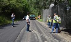 Lucrări de asfaltare pe Drumul Județean 710, Miculești – Bezdead