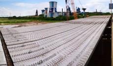 Târgoviște – S-au montat grinzile la pasajul de la Combinat