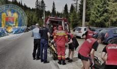 Turist accidentat, salvat de jandarmi şi salvamontişti