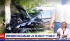 Accident în lanț, la Gheboieni. O femeie a fost dusă la spital