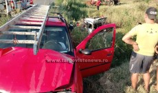 O şoferiţă, de 28 de ani şi pasagerul din maşina sa, răniţi de un şofer beat
