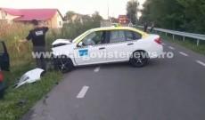Accident la Priseaca. Un taximetrist a fost rănit