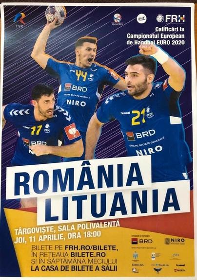 România – Lituania, azi, de la ora 18, la Sala Polivalentă! Hai, România!