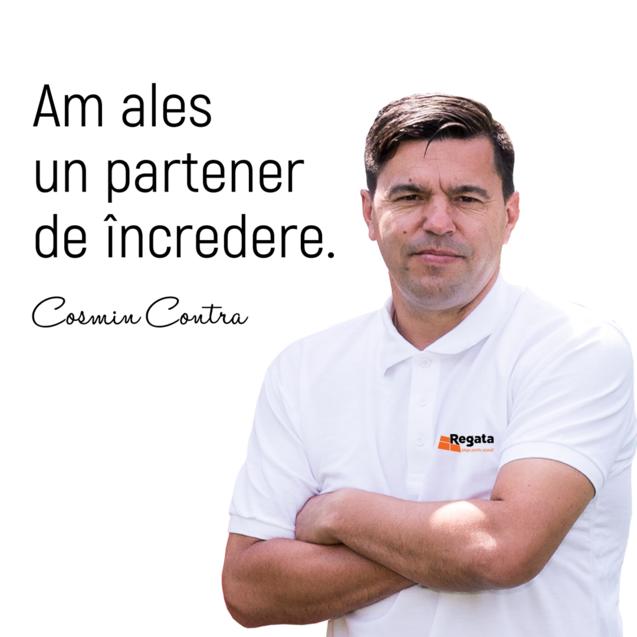"""Cosmin Contra: """"Am ales REGATA, un partener de incredere"""""""