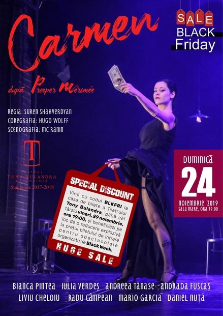 Black Friday la Teatrul Tony Bulandra. Nu rata reducerile explozive