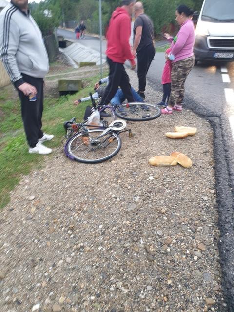 Imagini dure pe DN 72, la Dragodana. Un biciclist a fost spulberat de un tir