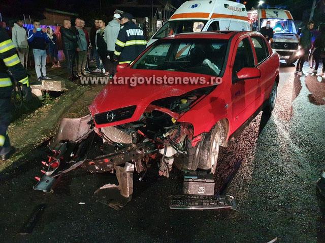 Accident grav, azi-noapte, la Băleni. Un tânăr de 18 ani a fost încarcerat
