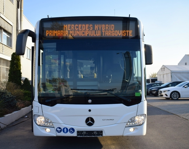 """""""Primul autobuz Mercedes-Benz Citaro Hybrid, cumpărat de Primăria Târgoviște, a ajuns la Târgoviște"""""""