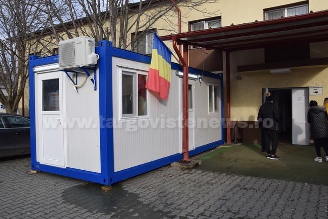 Unitatea de Primiri Urgențe Titu a primit un container special pentru pacienţii suspecţi de COVID-19