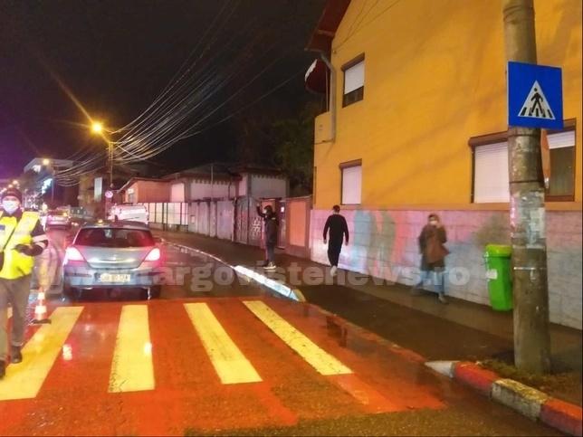 Un jandarm a lovit cu maşina un bărbat pe trecerea de pietoni, la Târgoviște