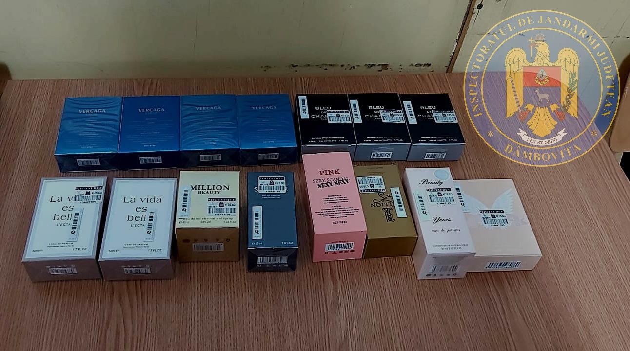 Târgovişte – Parfumuri şi haine contrafăcute, confiscate de jandarmi