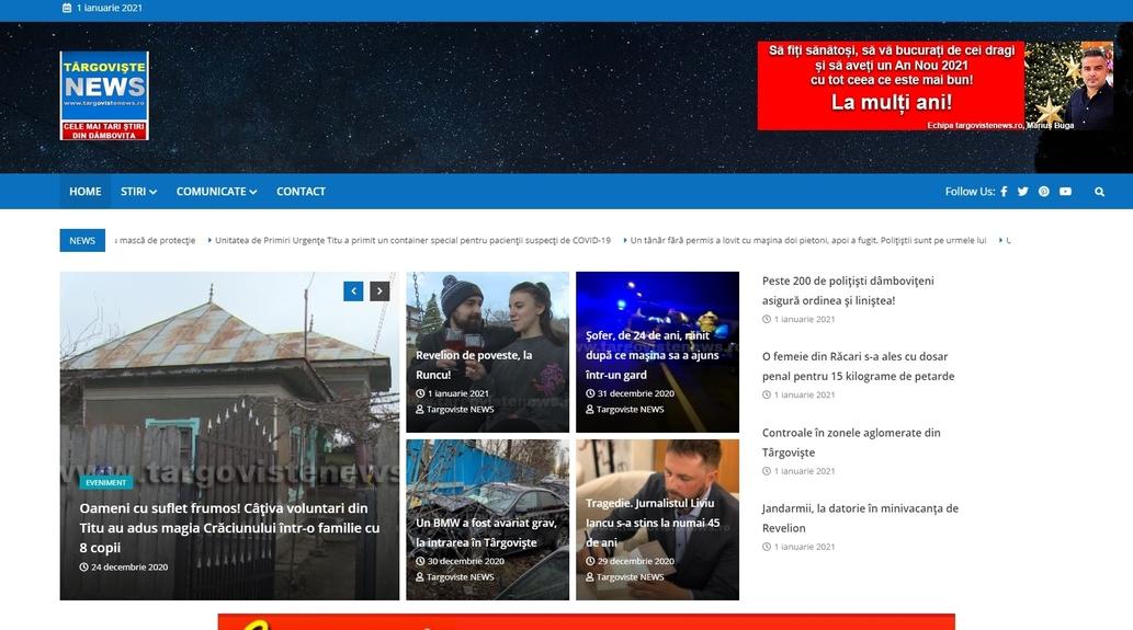 www.targovistenews.ro, premiat de apreciatul jurnalist Cătălin Tolontan. Mulţumim!
