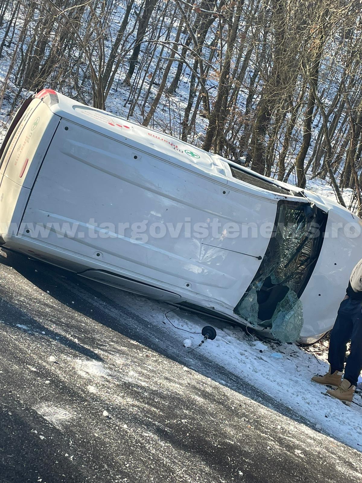 Accident în lanţ, la Măgura, Hulubeşti. 5 maşini au fost avariate