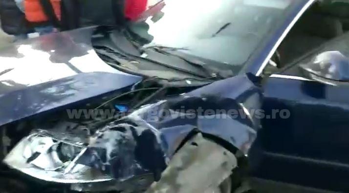 Accident violent lângă Mânăstirea Stelea, în Târgovişte