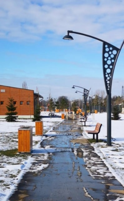 Noul parc de lângă Dâmboviţa Mall, aproape de finalizare