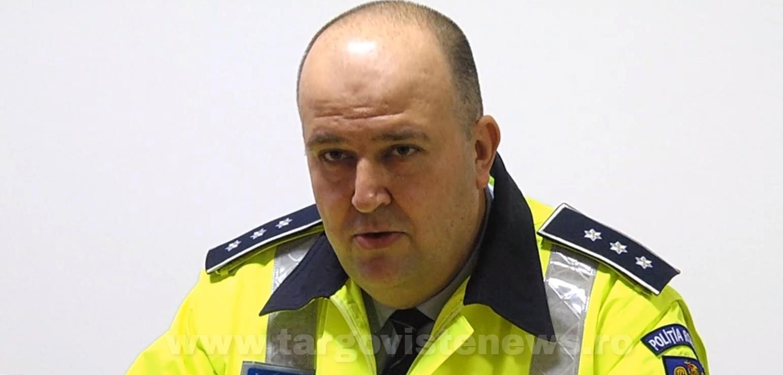 Şeful Poliţiei Rutiere Dâmboviţa, comisarul şef Răducu Rizea a ieşit la pensie