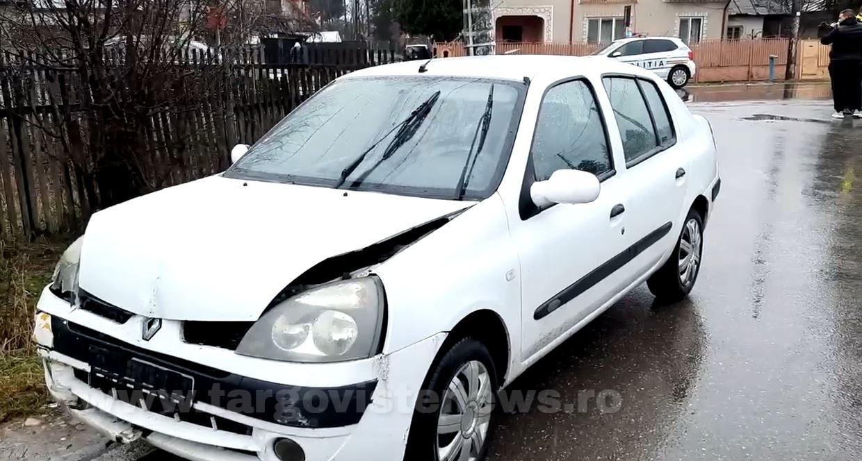 O şoferiţă a izbit în plin un BMW, la Valea Voievozilor