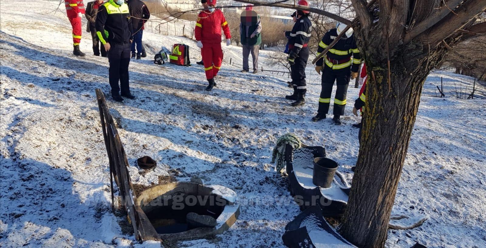 Ultima oră – Bărbat găsit decedat, îngheţat într-o fântână, la Valea Mare Pravăţ