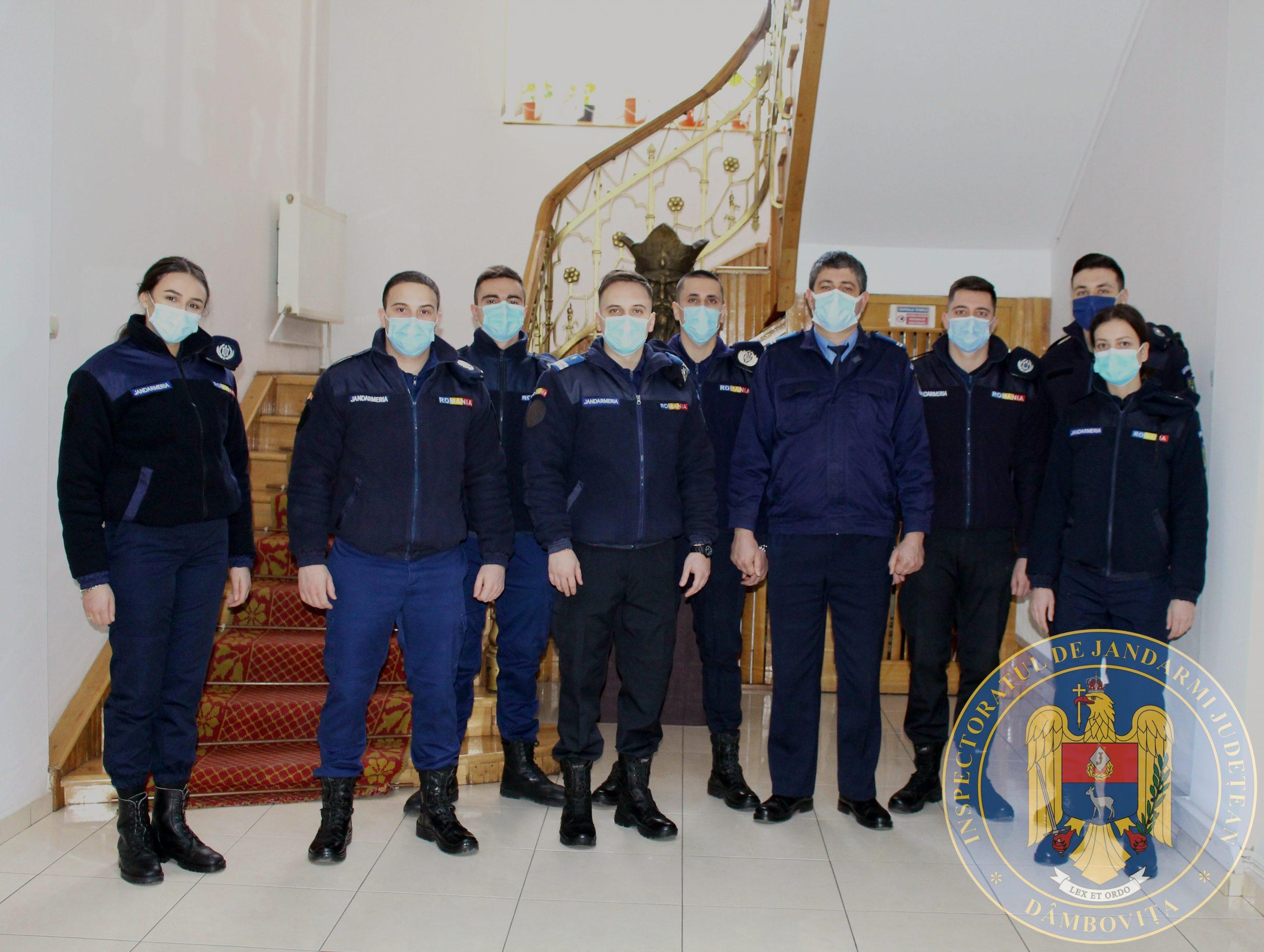 8 studenţi, în practică la Jandarmeria Dâmboviţa