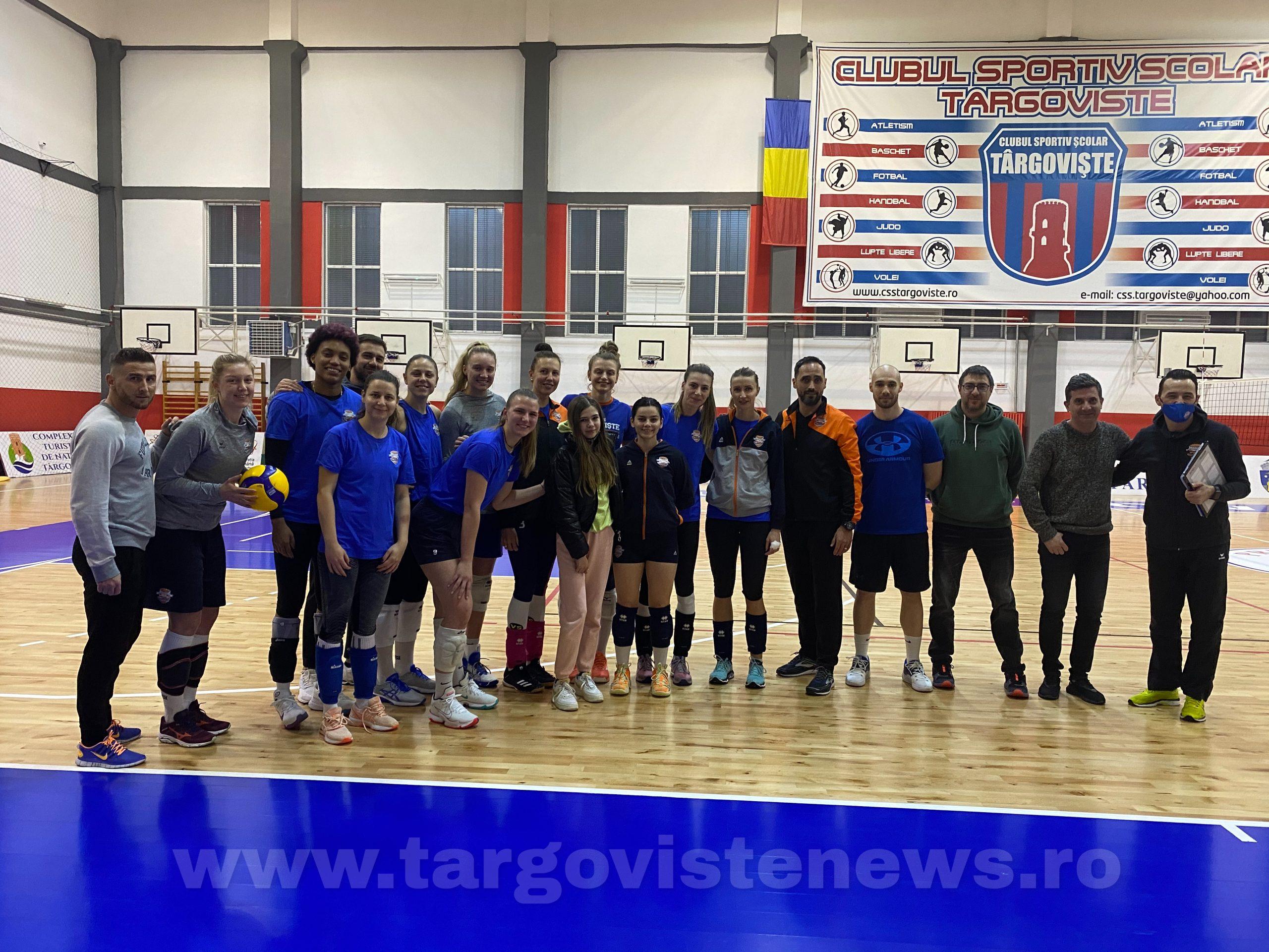 Jucătoarele CSM Târgovişte, gest de suflet pentru o fată în suferinţă