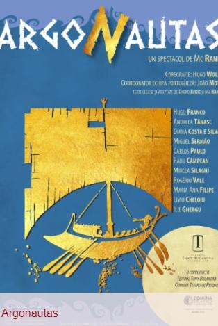 """""""Argonautas – prima super producție cu care se redeschide Sala Mare a teatrului Tony Bulandra, în urma lucrărilor la scenă și lumini"""