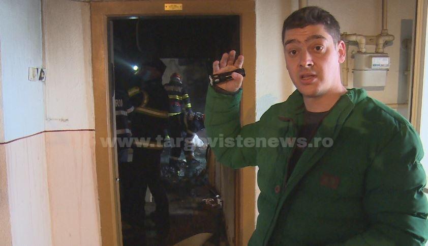 """Laurenţiu, militarul erou care a salvat o vecină paralizată, după ce casa i-a luat foc: """"Flacăra era până-n tavan. Am intrat pe burtă"""""""