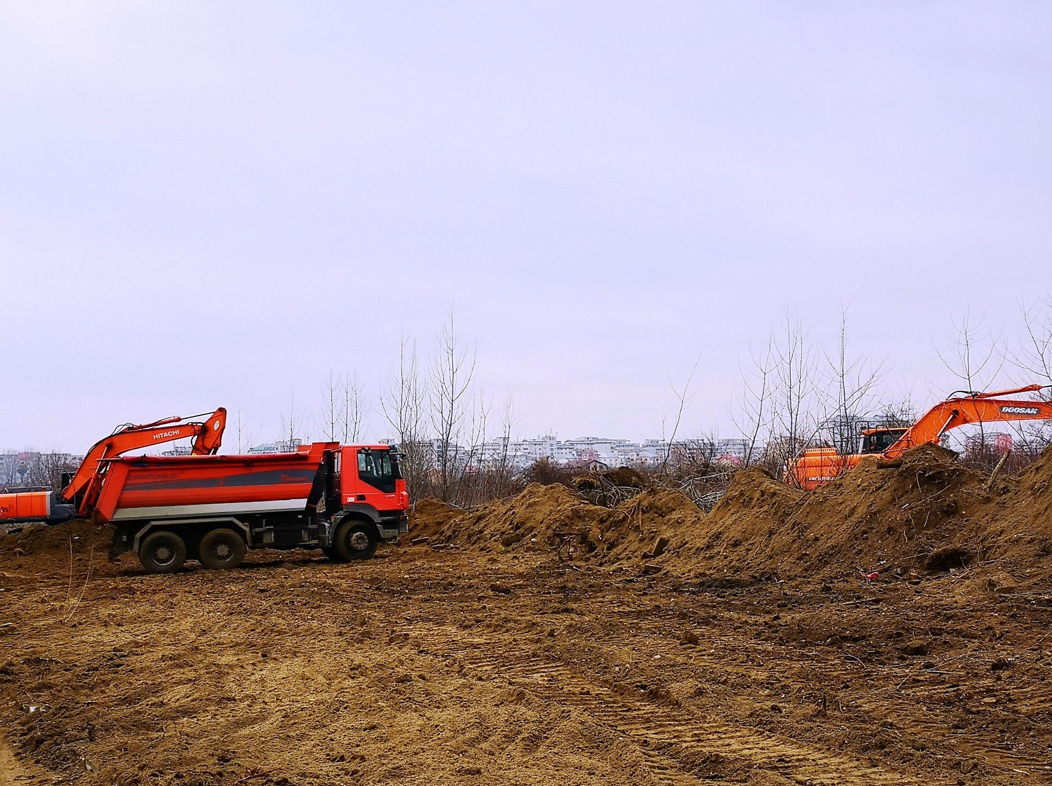 Târgovişte: Au început lucrările la noul parc de lângă Complexul de nataţie